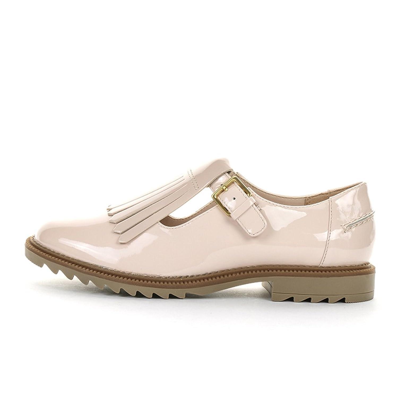 Amazon.com | Clarks Women's Griffin Mia Casual Shoes 7 D (M) UK/ 9.5 B(M)  US Nude Pink Patent | Flats
