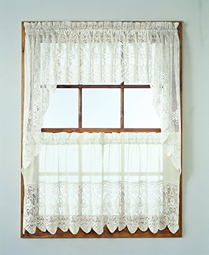 Lace Kitchen Curtain Swag Pair, 60
