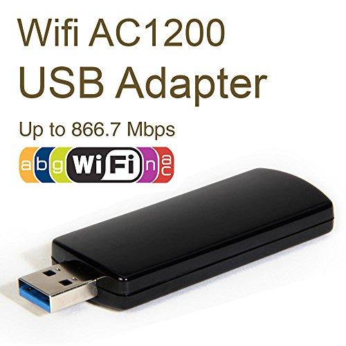 WiFi AC Adapter Dongle, GMYLE Wireless AC1200 Dual-Band
