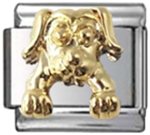 Stylysh Charms Dog 3D Pouncing Pooch Enamel Italian 9mm Link DG003 ()