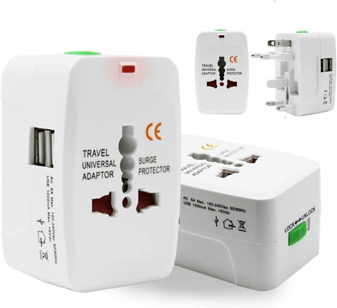 Amazon.in: Buy TECH SHOP Universal Adapter Worldwide Travel Adapter with  Built in Dual USB Charger Ports (White) Online at Low Prices in India |  Tech Shop Reviews & Ratings