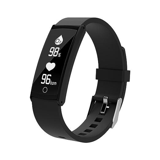 Qomomont Reloj Inteligente Reloj Pulsera Rastreador de Ejercicios, presión Arterial, frecuencia cardíaca, Q6 Adecuado para Android y iOS OLED de 0.96 ...