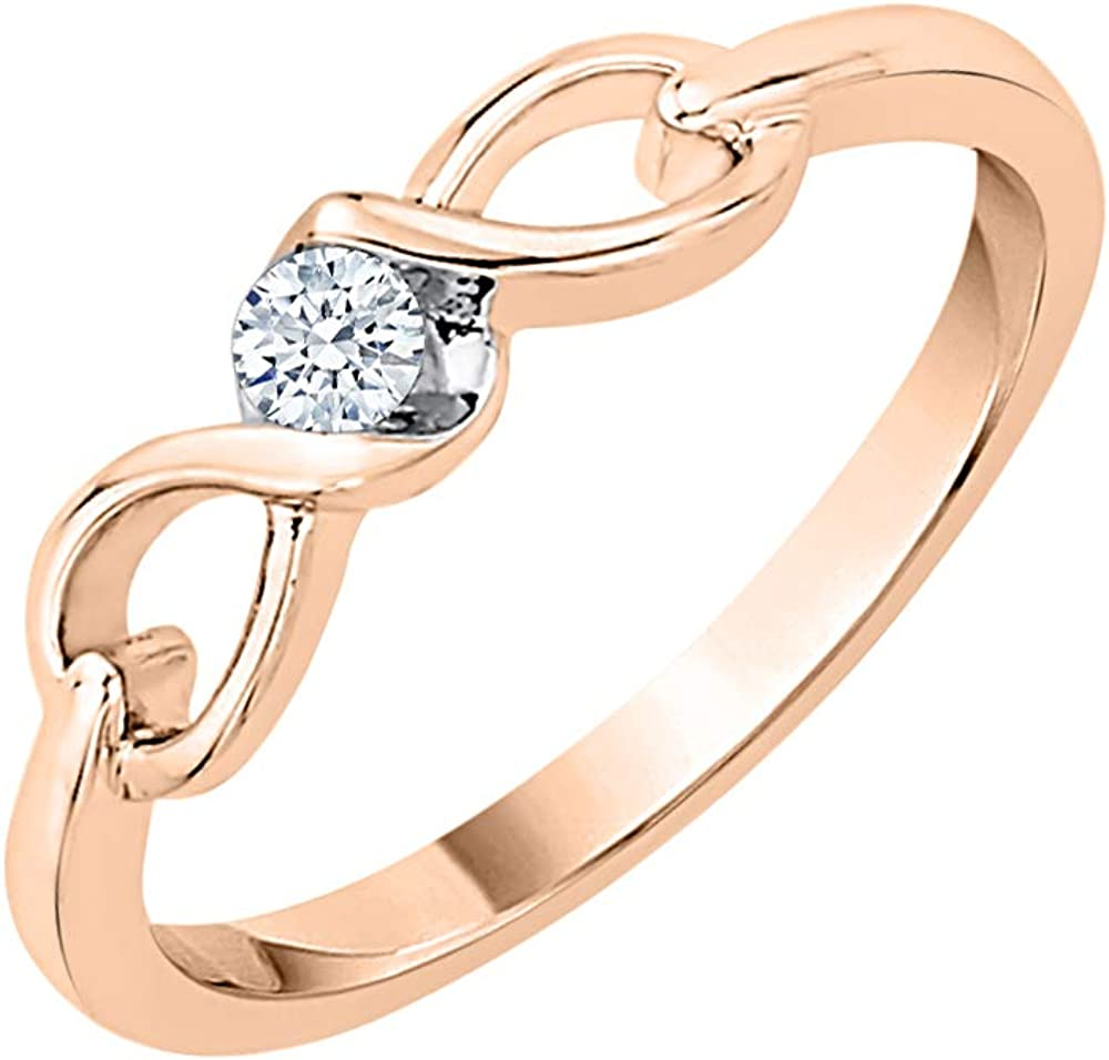 Diamond Wedding Band in 10K Yellow Gold 1//10 cttw, G-H,I2-I3 Size-10.25