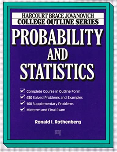 Amazon com: College Outline for Probability and Statistics (HARCOURT