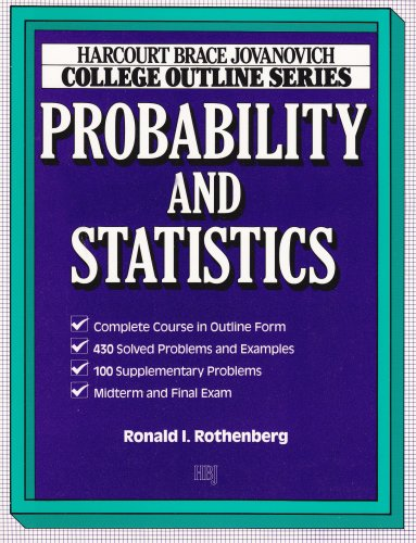 College Outline for Probability and Statistics (HARCOURT BRACE JOVANOVICH COLLEGE OUTLINE SERIES)