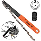 Oumers Bike Chain Tools Kit, Upgrade Rotor Lockring Removal Wrench & Chain Whip with Cassette/Bicycle Flywheel Remover Sprocket Remover Tool Pack