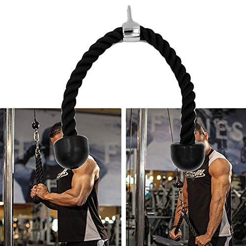 bDSof0u89yw Heavy Duty Fitness Tricep Universal Training Rope Exerciser Strength for Body - Kickback Crossover