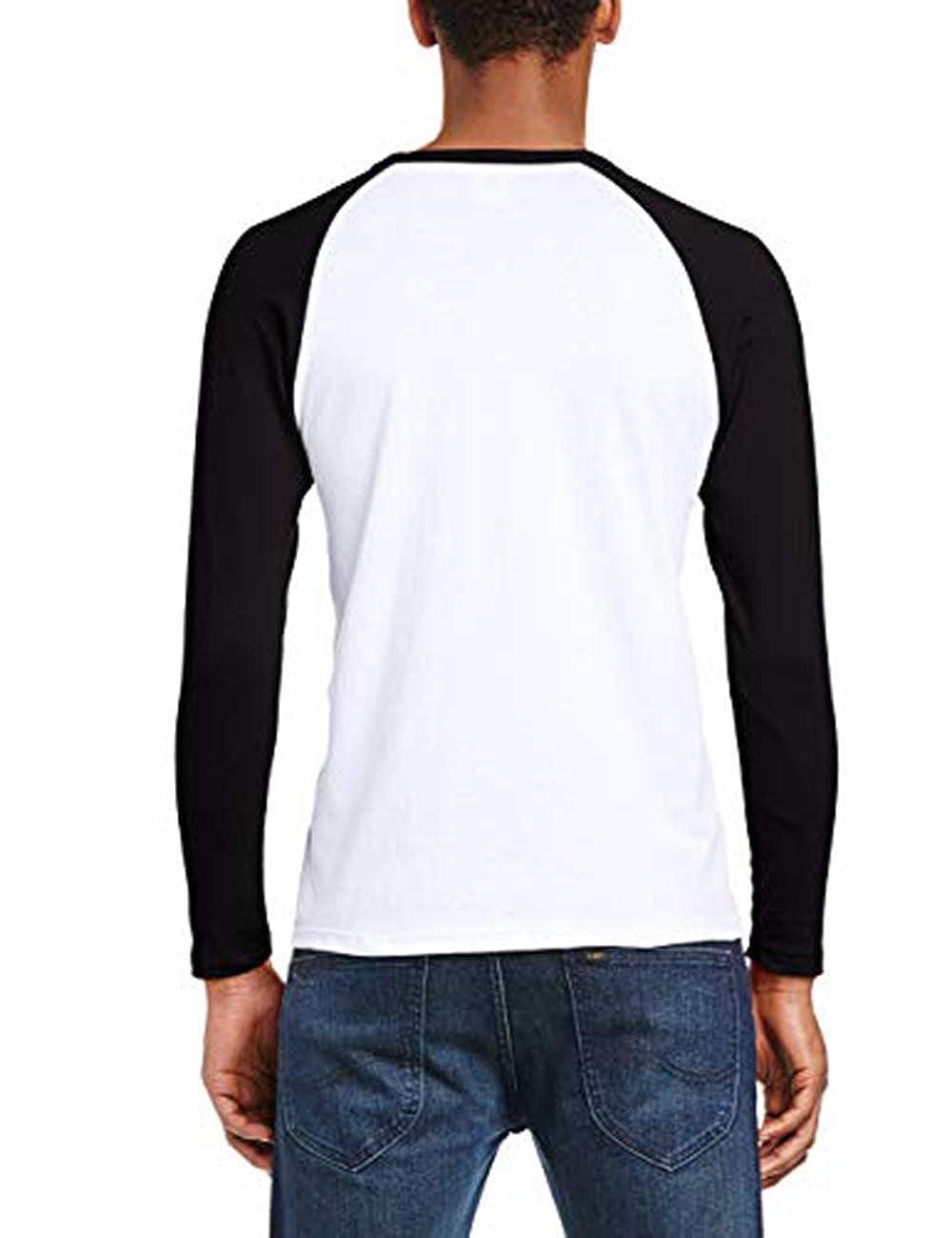 Yestrong Men Graphic of MGMT Long Sleeve Raglan Tee Shirt