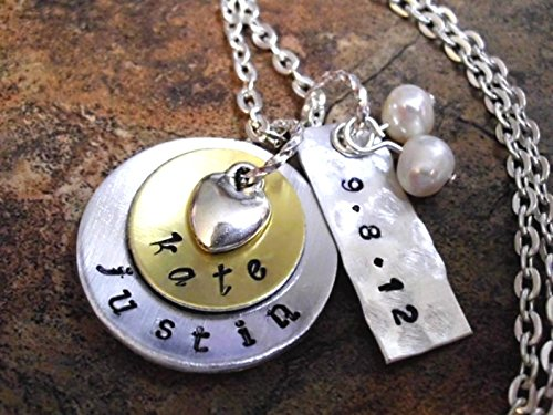 Amazoncom Wedding Necklace Wedding Date Jewelry Bridal Jewelry