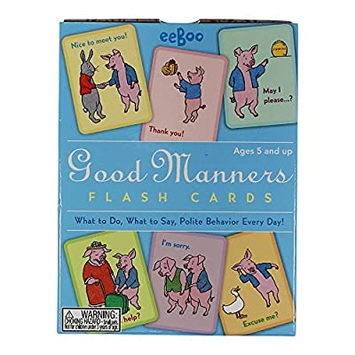 eeBoo Good Manners Flash Cards: Toys & Games