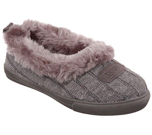 BOBS from Skechers Women's Mad Crush Sweater Slipper,Charcoal,7.5 M US
