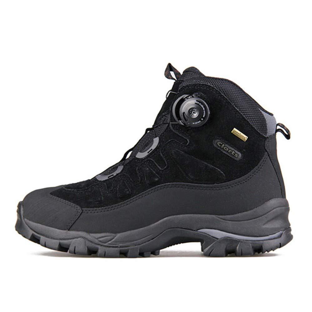 DSX Chaussures de Randonnée pour Hommes Bottes de Montagne Hivernales Hivernales Coupe-Vent Imperméables paniers de Randonnée Anti-Glissantes, Noir, 7UK  très populaire