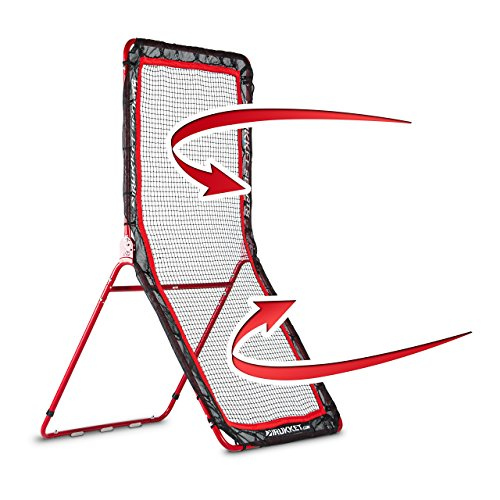 Rukket 4x7ft Baseball/Softball/Lacrosse Rebounder Pitchback Training Screen | Practice Pitching and Throwing