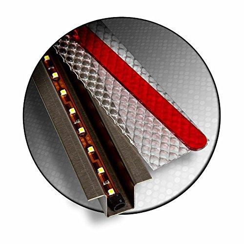 Keep It Clean 12466 Light Kit GhostLight - Clear w/Red LED 4.5' Fixed Single Flush Mount Light Kit
