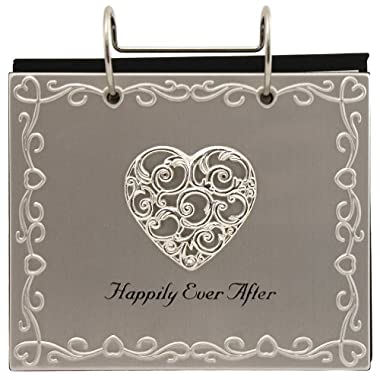 Malden International Designs Wedding  Happily Ever After  Flip Album Picture Frame, 4 by 6-Inch, Silver