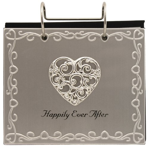 Malden International Designs Wedding Happily Ever After Flip Album Picture Frame, 4x6, Silver