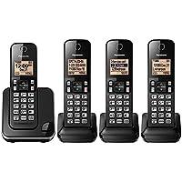 Panasonic KX-TGC384B Dect 6.0 4 Handset Landline Telephone (Certified Refurbished)
