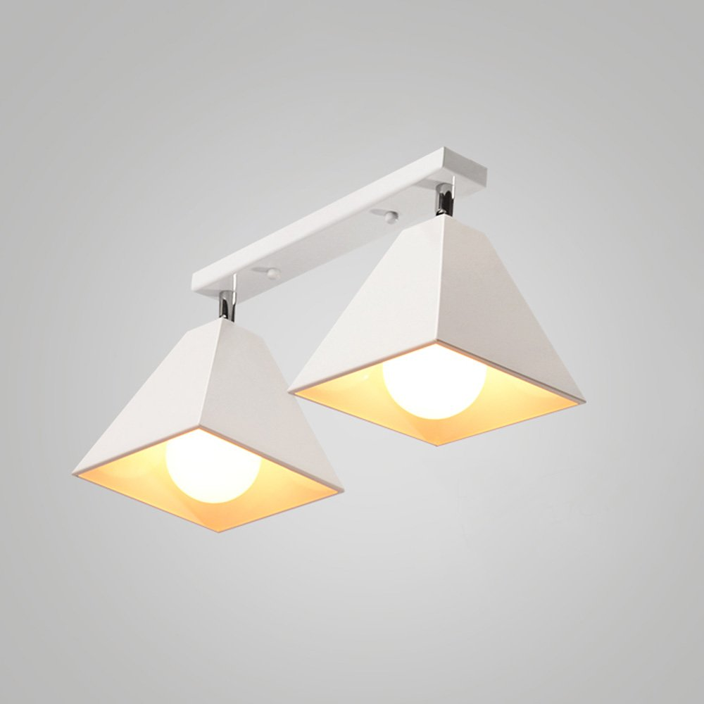 Iron Small Ceiling Lamp LED Nordic Creative Ceiling Light For Living Room Aisle Corridor Cloakroom Balcony Bay Window Cafe Chandelier ( Color : White , Size : B )