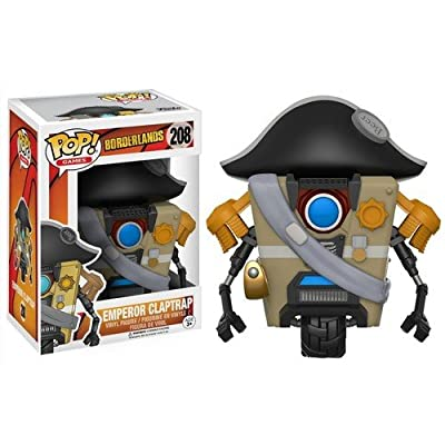 Funko POP Games Borderlands Emperor Claptrap Action Figure: Funko Pop! Games:: Toys & Games