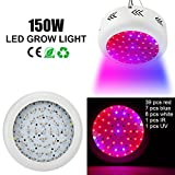 Derlights 150W UFO Full Spectrum LED Grow Light with Ir and Uv, Growing Lamp for Indoor Gardening Hydroponics System Greenhouse Flowering Plant Lighting Review