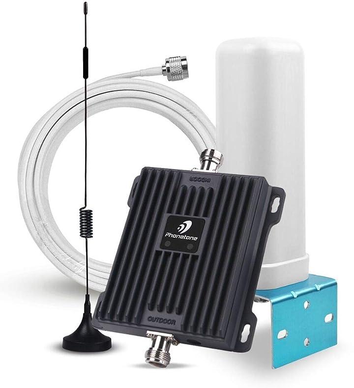 Phonetone 電話信号増幅器 携帯電話信号ブースター UMTS LTE 900/1800MHz
