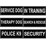 FidgetGear Extra Patch Reflective Label Tag for Dog Harness Service Therapy Training Security