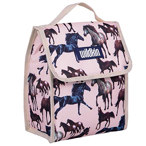 Lunch Bag, Wildkin Lunch Bag, Insulated, Moisture Resistant, Easy to Clean and Folds Flat Making Storage That Much Easier, Ages 3+, Perfect for Kids or On-The-Go Parents – Horse Dreams