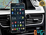 QuGi® Air Vent Mount Cell Phone Holder. Rotates 360. Holds Most Smartphones Including Galaxy S4 and S5, IPhone 6, iphone 6 plus, IPhone 5, 5S and 5C, LG G2, and Nexus 5. Even Holds Galaxy Note 2 and Note 3. Ipod, Small, Sleek, Simple. Fits in Your Pocket and Doubles as a Desk/table Stand. (Black) Model: JHD-26HD67 Car/Vehicle Accessories/Parts