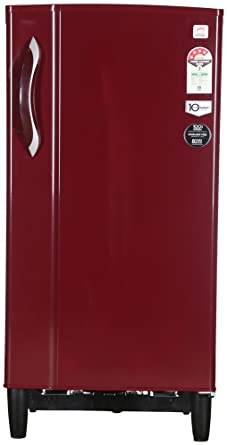 Godrej 185 L 4 Star Direct Cool Single Door Refrigerator RD Edge 185 E2H 4.2, Red  Refrigerators