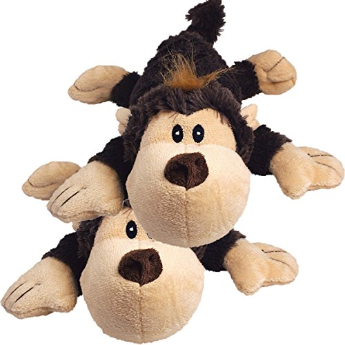 (KONG Spunky Monkey Cozie Dog Toy, Small (2 Pack))