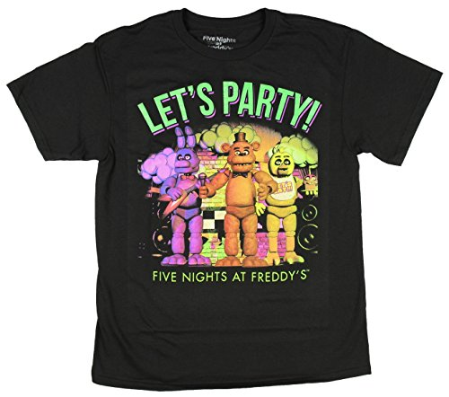 Five Nights At Freddys Lets Party Boys Youth T-shirt Licensed (Medium)