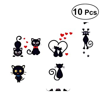 Amazon.com: YeahiBaby 10pcs Light Switch Sticker Cartoon Cat Wall Sticker Removable Switch Decals for Kids Bedroom Decor: Toys & Games