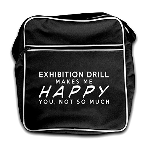 Black Red Me Drill Happy Exhibition Makes Flight Bag Retro qCSCpw