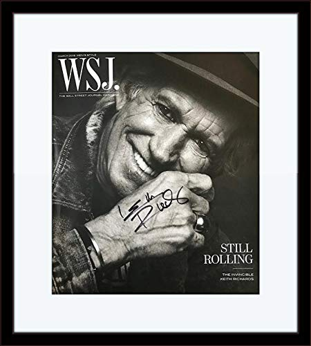 Framed Keith Richards Rolling Stone Authentic Autograph with Certificate of Authenticity