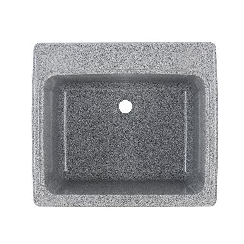 Swan SSUS1000.042 Gray Granite Work Color Solid Surface Utility Sink by Swan
