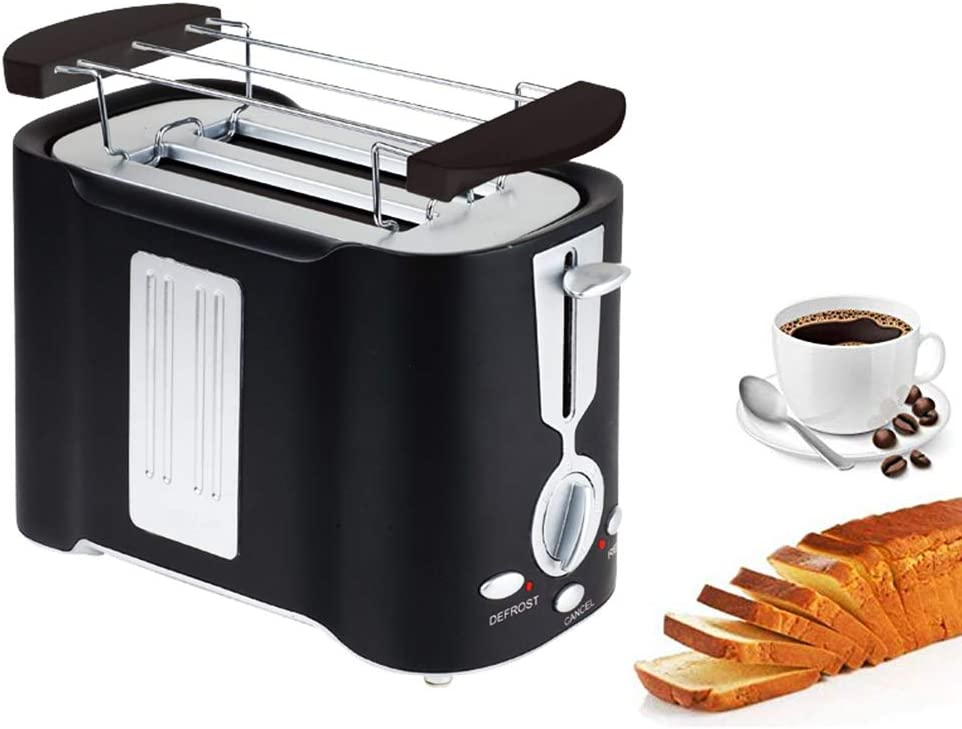 Compact Toaster 2 Slice, Multifun Stainless Steel Toaster with Warm Rack, Toaster with Bagel, Cancel, Defrost Function