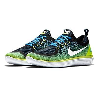 Nike Herren Free RN Distance 2 Laufschuhe, Mehrfarbig (Chlorine  Blue/Electro Green/