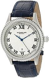 Stuhrling Original Men's 91C.3315C2 Symphony Aristocrat Augustus Automatic Self-Wind Date Blue leather Strap Watch