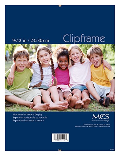 MCS 9x12 Inch Glass Clip Frame (55912) (Mcs Glass Clip Picture Frame)