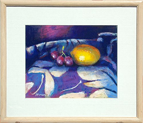 Untitled Lemon and Grapes Still Life by