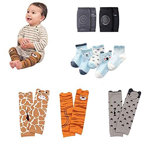 (Kids Leg Warmers Leggings Knee pads and socks for Toddler Boys&Girls Crawling Socks (pack of 10 pairs))