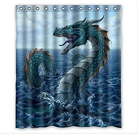 Ostchinesischen Myth Drachen Schmaler Duschvorhang
