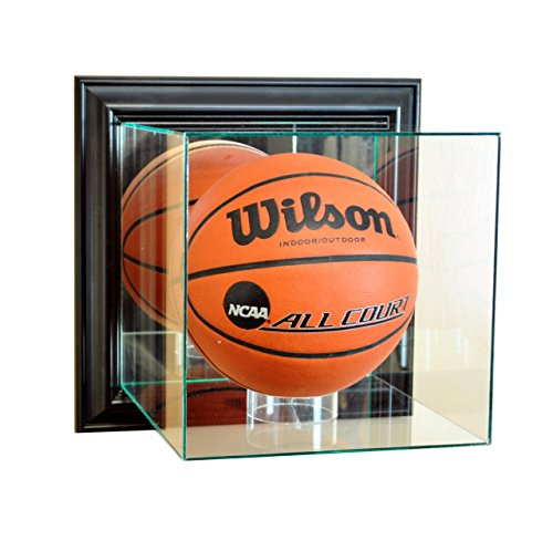 Perfect Cases NBA Wall Mounted Basketball Glass Display Case, Black