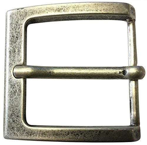Brazil Lederwaren Gürtelschnalle 4,0 cm | Buckle Wechselschließe Gürtelschließe 40mm Massiv | Dorn-Schließe | Für Wechselgürtel bis zu 4cm Breite