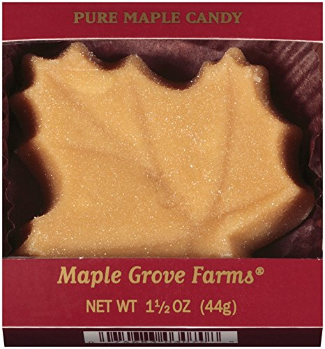 Maple Grove Farms Pure Maple Candy, Large Leaf Shape, 1.5