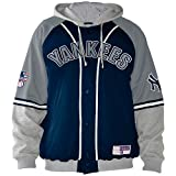 """New York Yankees Giii """"Mlb Stolen Base Jersey Jacket (ASH GREY/NAVY, 2XL)"""