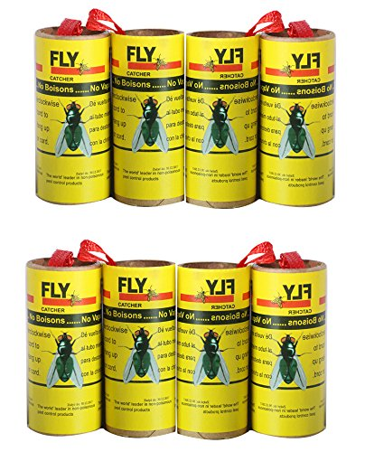 HouseGuard Fly Paper Strips, Fly Catcher Trap Super Value -S