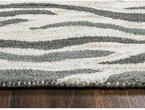 Rizzy Home Valintino Collection Wool Area Rug, 8 x 10 , Light Gray Blue Gray Blue Animal