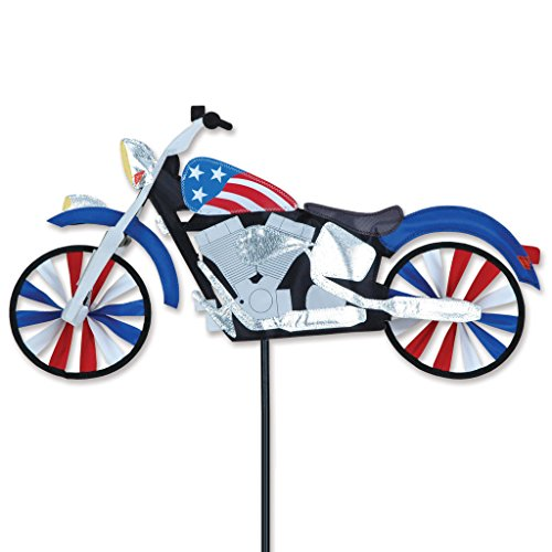 "22"" Patriotic Motorcycle Wind Spinner"
