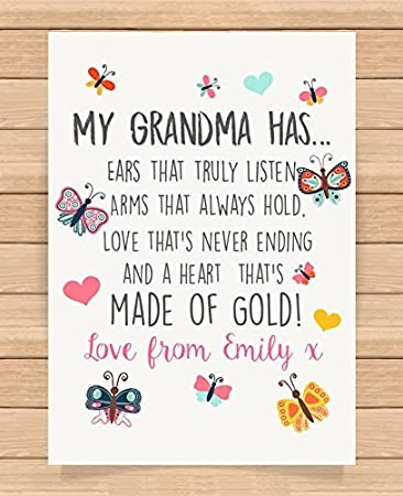 Personalizada Regalos para abuela Grandma s niñera abuela ...